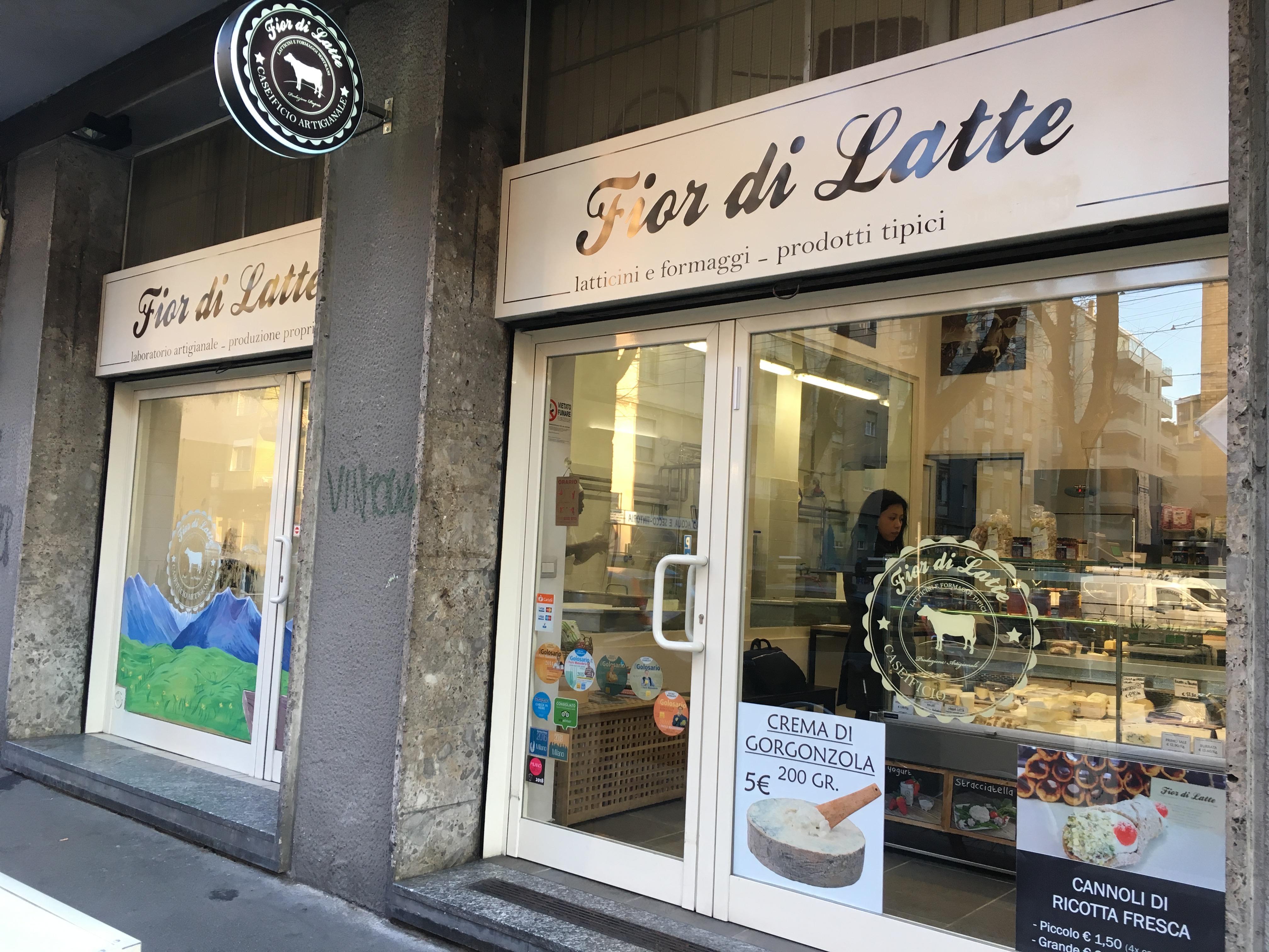 ミラノの美味しい手作りモッツアレラチーズのお店