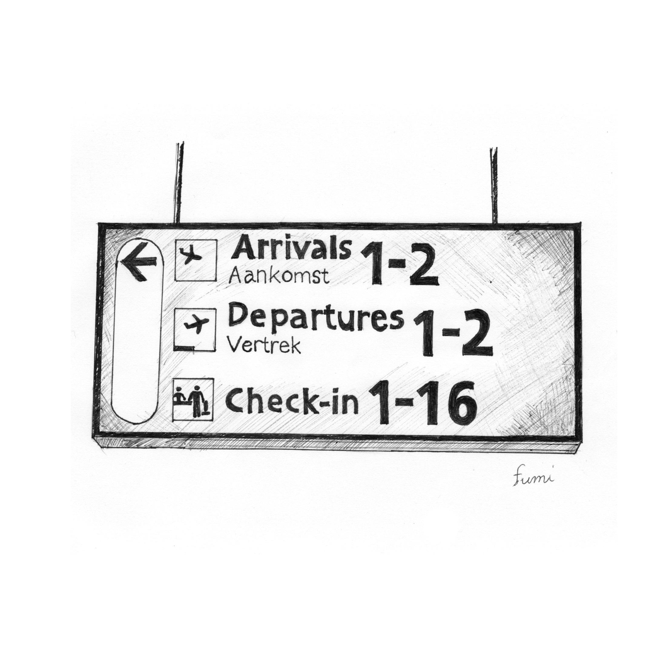 空港の気になるサインデザイン